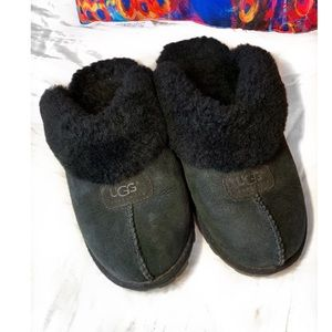 Ugg Coquette Black Slippers Size-9
